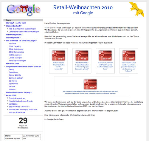 google retail weihnachten. Black Bedroom Furniture Sets. Home Design Ideas